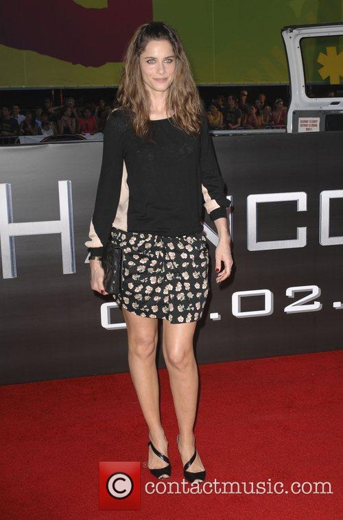 Amanda Peet Los Angeles premiere of 'Hancock' held...