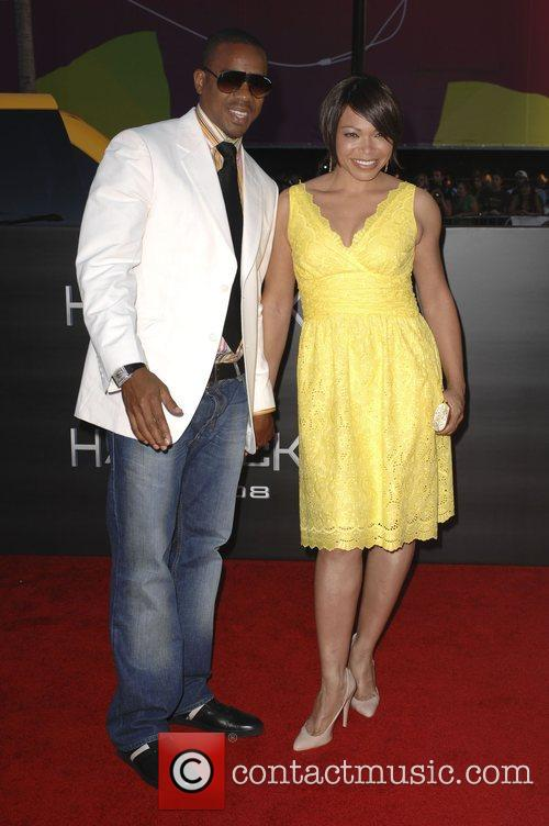 Tisha Campbell and guest Los Angeles premiere of...