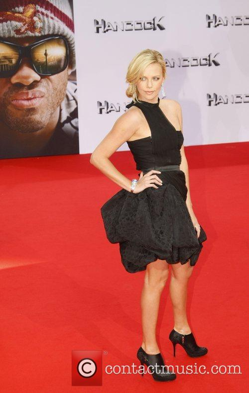 Charlize Theron German premiere of 'Hancock' at CineStar...