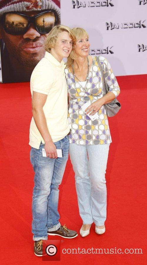 Gaby Papenburg and her son Felix German premiere...