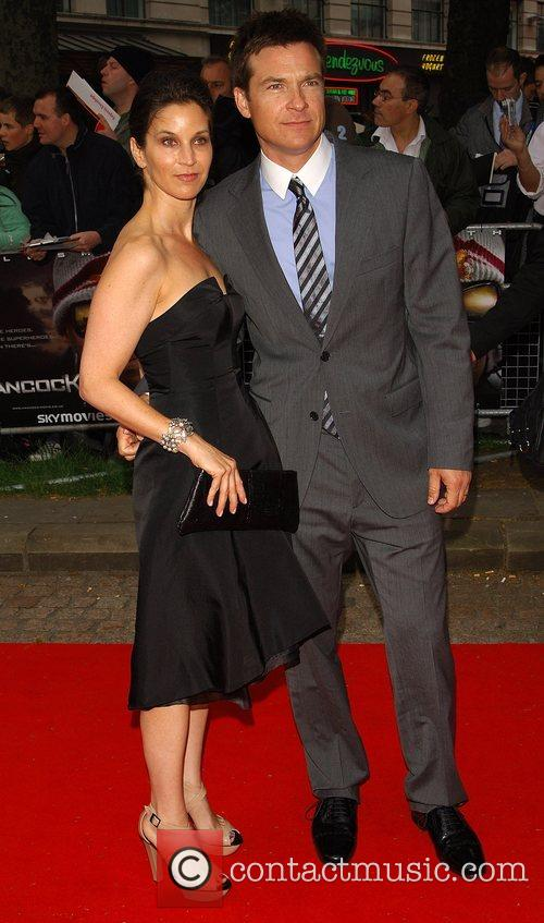 Jason Bateman and guest London premiere of 'Hancock'...