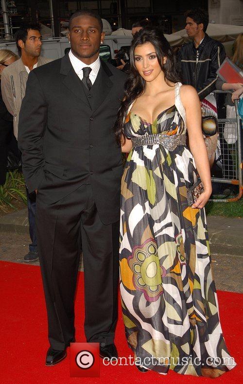 Reggie Bush and Kim Kardashian London premiere of...