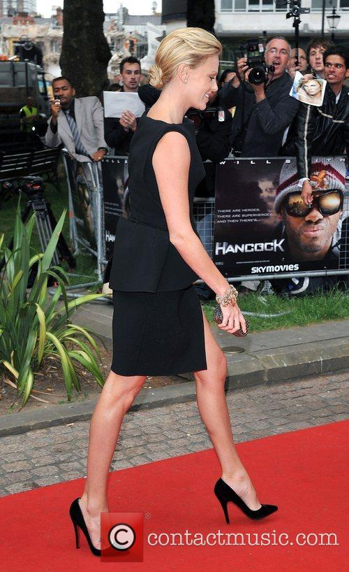 Charlize Theron London premiere of 'Hancock' at Vue...