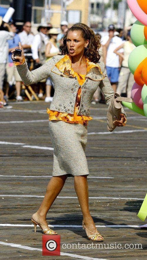 Vanessa Williams on the film set of 'Hannah...