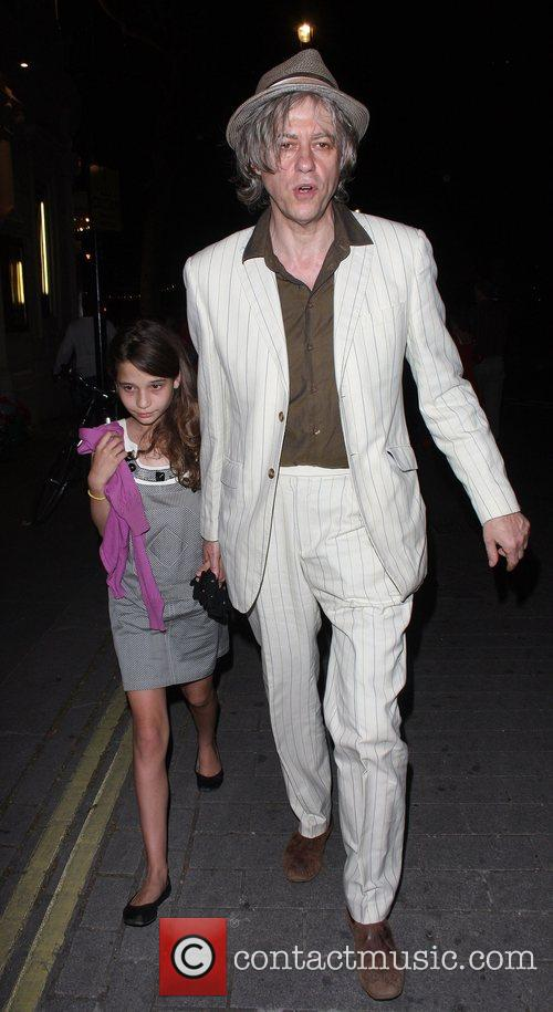 Sir Bob Geldof and daughter Tiger Lilly leaving...