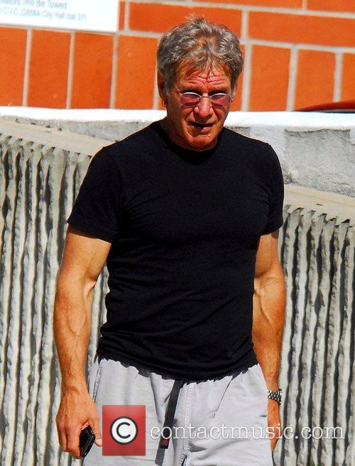 Harrison Ford leaving his gym