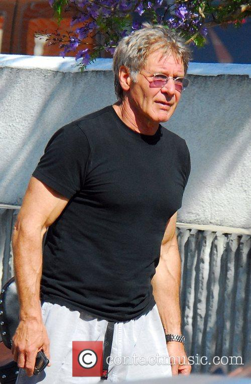 Harrison Ford leaving his gym Los Angeles, California