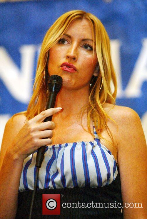 Heather Mills receives the Animal Activist Award and...