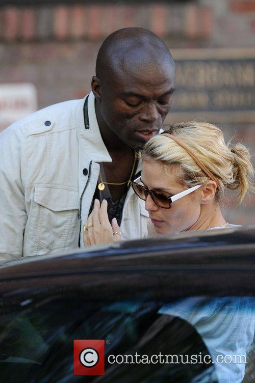 Heidi Klum and Seal Share A Kiss As They Leave Their West Village Residence On Separate Cars 3