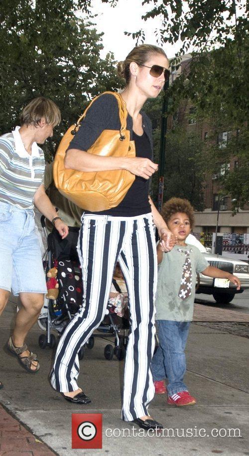 Heidi Klum and son Henry 1