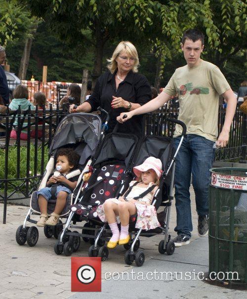 Johan Klum and Leni Klum take a walk...