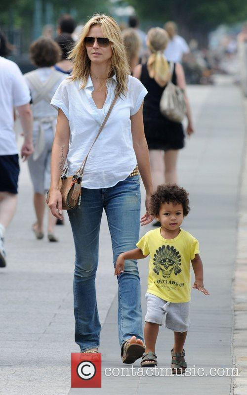 Heidi Klum and Son Johan Samuel 1