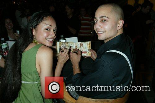 Karen Olivo and Seth Stewart CD signing for...