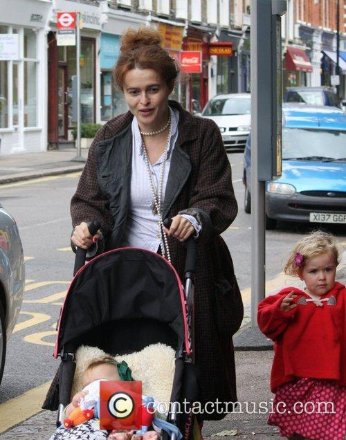 Out and about with her children