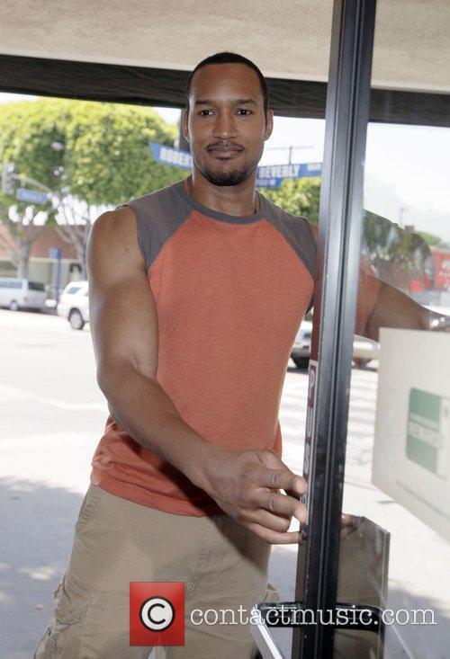 Henry Simmons former 'Shark' actor at Starbucks Los...