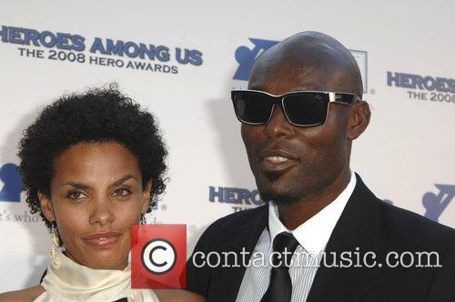 Jimmy Jean Louis with his wife Evelyn The...