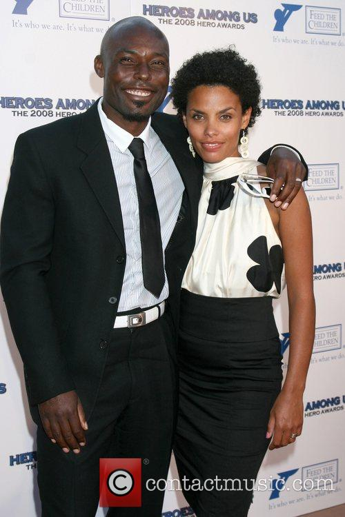 Jimmy Jean-Louis and guest 2008 Hero Awards at...