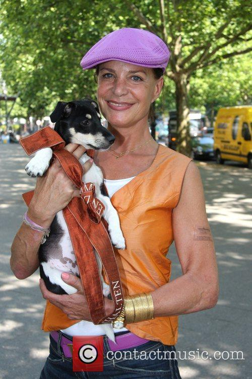 Barbara Herzsprung and her dog Lotte Photocall at...