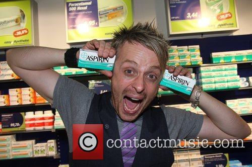 Ross Antony Photocall at Easy Apotheke pharmacy on...
