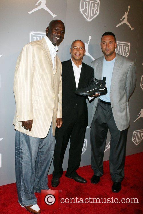 Michael Jordan, Keith Houlmeard and Derek Jeter Celebrities...