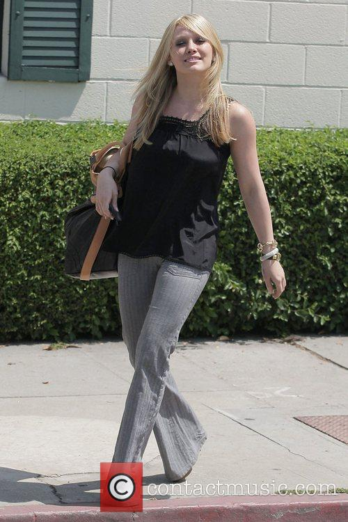 Hilary Duff leaving the Neil George Salon in...