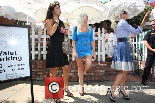 'The Girls Next Door' star leaving the Ivy...