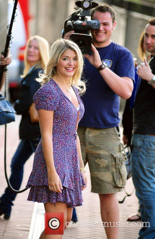 Holly Willoughby filming for the new series of...