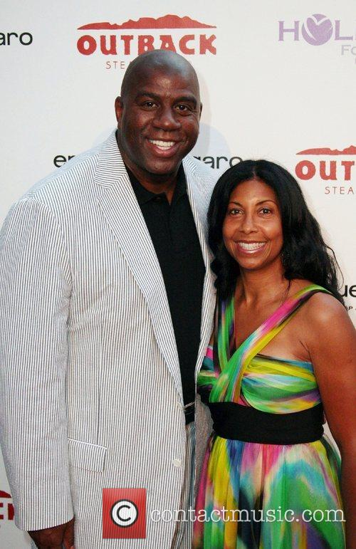 Earvin Magic Johnson and Cookie Johnson 1