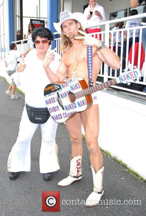 Elvis and The Naked Cowboy participate in Vitamin...