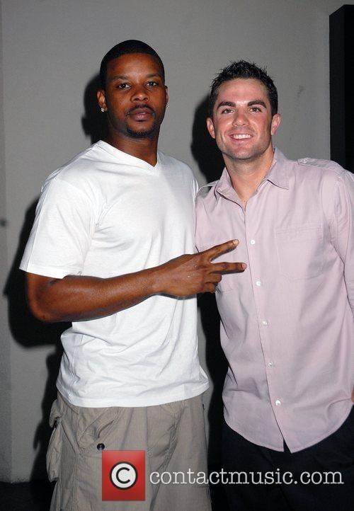 NJ Jets' Kerry Rhodes and NY Mets' David...