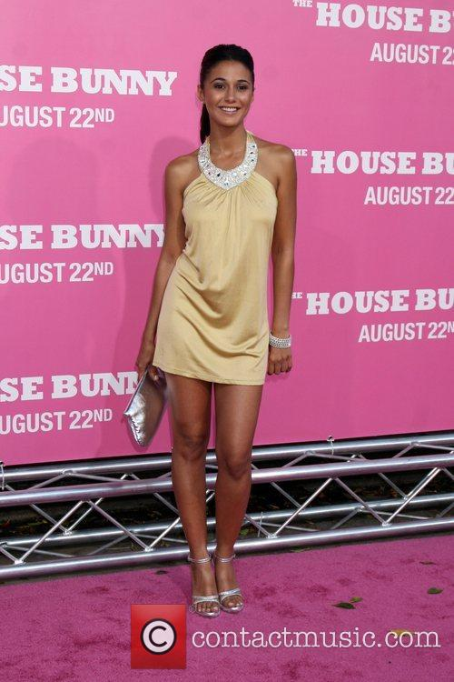 Emmanuelle Chriqui Premiere of 'The House Bunny' at...