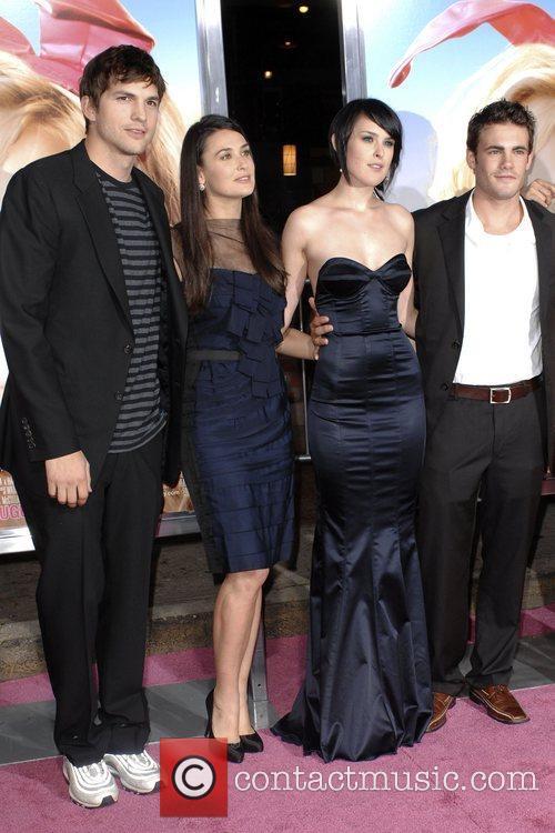Ashton Kutcher, Demi Moore, Rumer Willis and Micah...