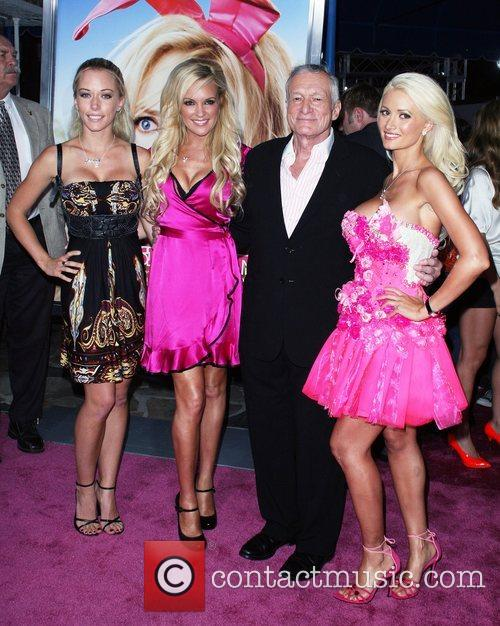 Kendra Wilkinson, Bridget Marquardt and Hugh Hefner 2