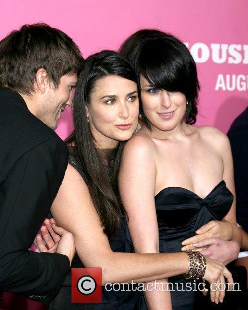 Ashton Kutcher, Demi Moore and Rumer Willis...