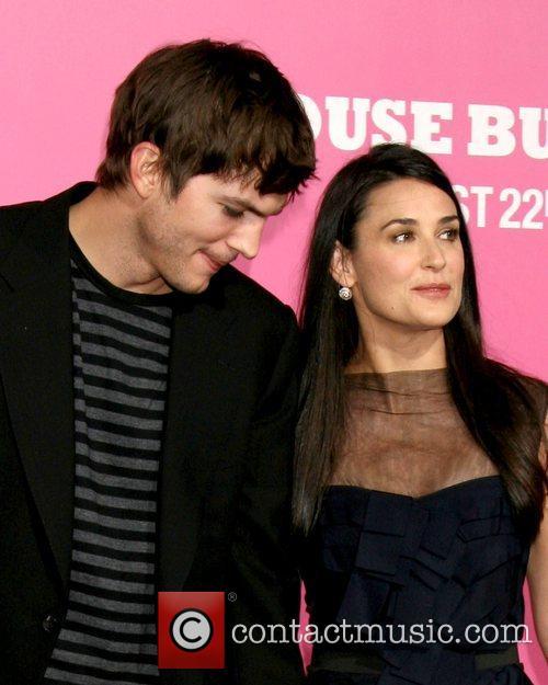 Ashton Kutcher and Demi Moore  Premiere of...