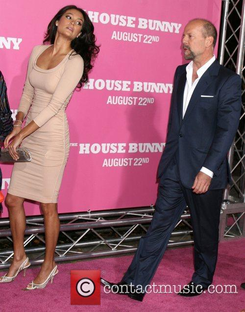 Emma Heming and Bruce Willis  Premiere of...