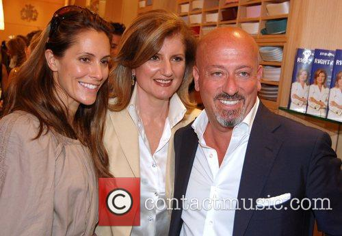 Arianna Huffington book signing party at Domenico Vacca