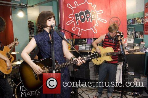 Performing live at Fopp in Covent Garden.