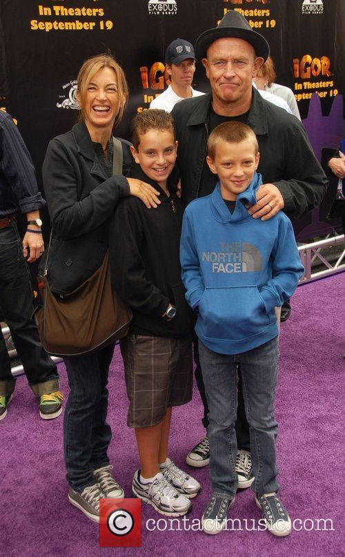Amanda Hayes and Corbin Bernsen with kids 'Igor'...