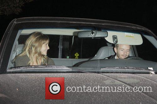 Christopher Masterson outside Il Sole restaurant in West...