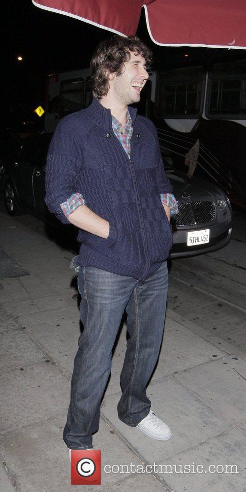 American singer-songwriter Josh Groban outside Il Sole restaurant...