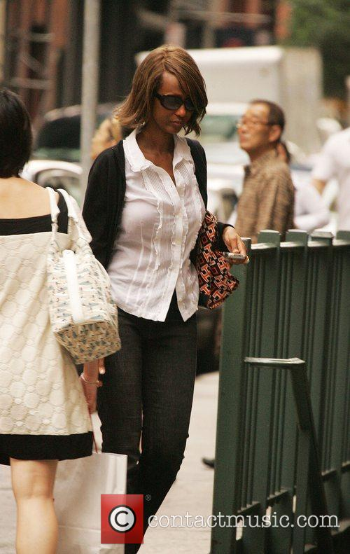 Iman out and about on the streets of...