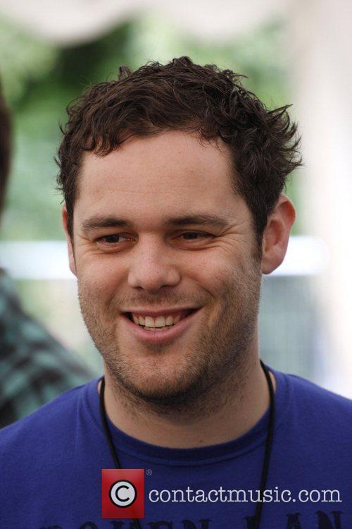 Peter Ellard of Scouting For Girls backstage Isle...