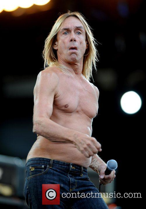 Iggy Pop and The Stooges performing 2008 Isle...