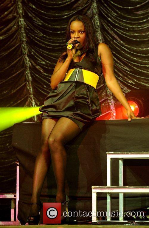 Keisha Buchanan of the Sugababes performing 2008 Isle...