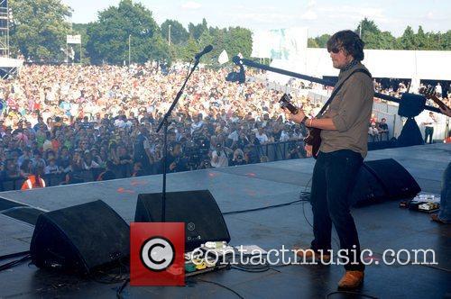 James Walsh of Starsailor performing at the 2008...