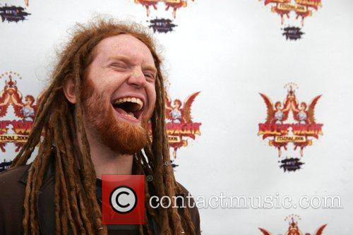 Newton Faulkner backstage Isle of Wight Music Festival...