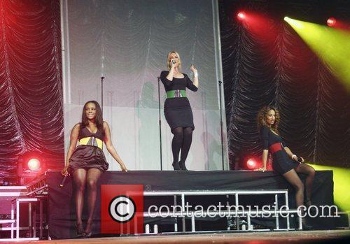 Heidi Range, Keisha Buchanan and Amelie Berrebah of...