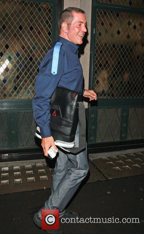 Dale Winton leaving the Ivy London, England