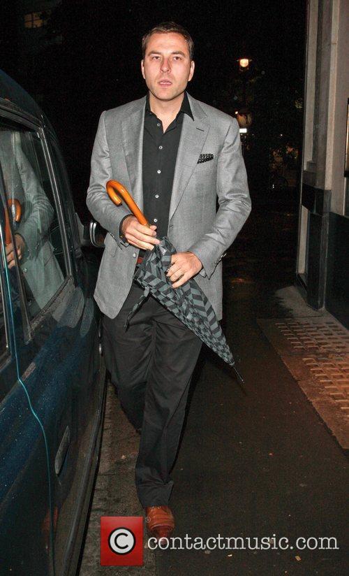 David Walliams leaving the Ivy London, England